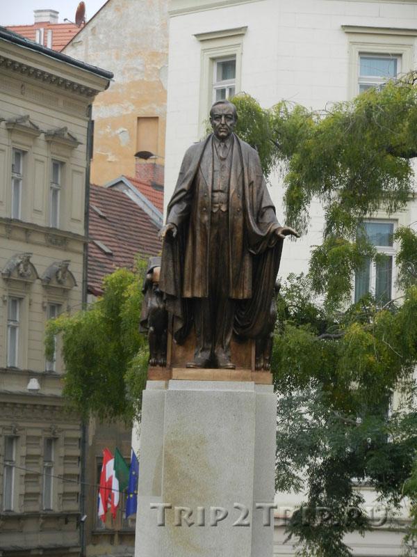 Памятник Вудро Вильсону, Сад Врхлицкого у железнодорожного вокзала, Прага