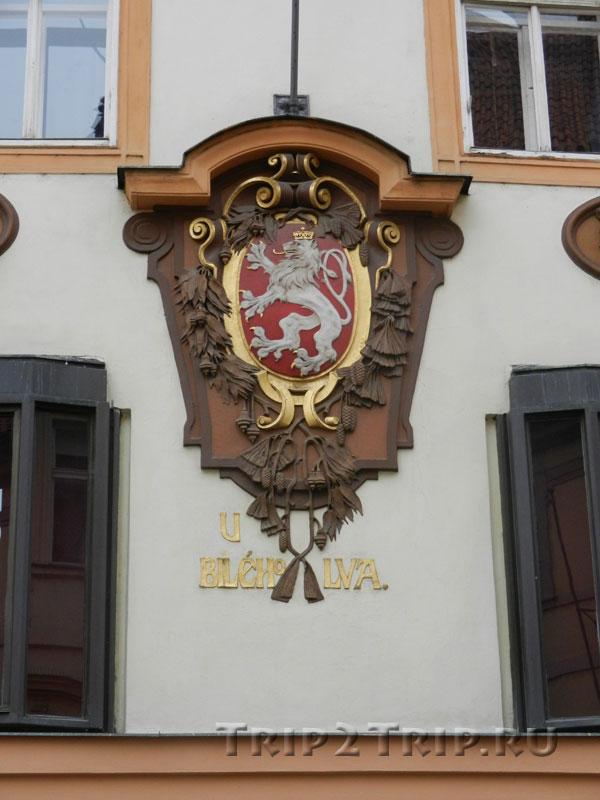 """Дом """"У Белого льва"""", Целетная улица, Прага"""
