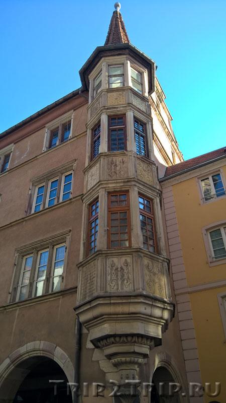 Южный эркер дома с аркадами, Большая улица, Кольмар