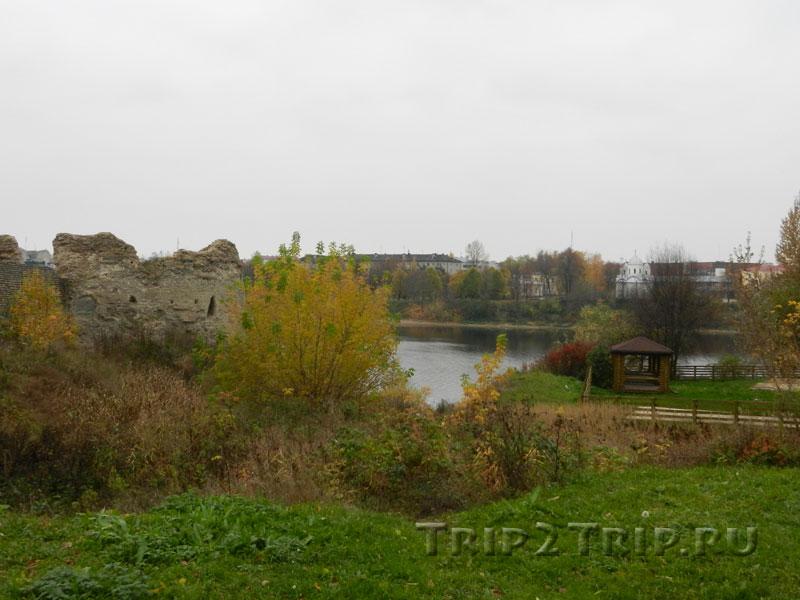 Варлаамская (Наугольная) башня, Запсковье, Псков