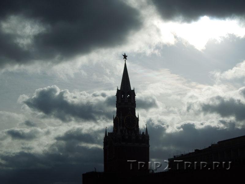 Спасская башня, московский Кремль