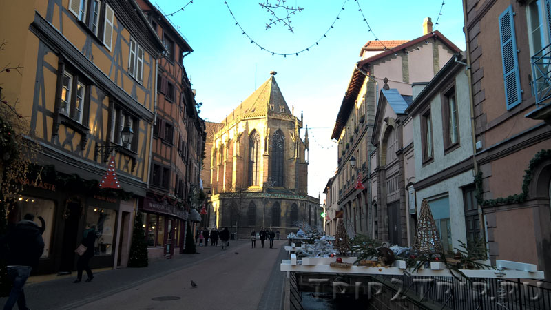 Церковная улица с собором Сен-Мартен в перспективе, Кольмар