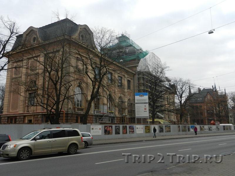 Латвийский национальный художественный музей, эспланада, Рига