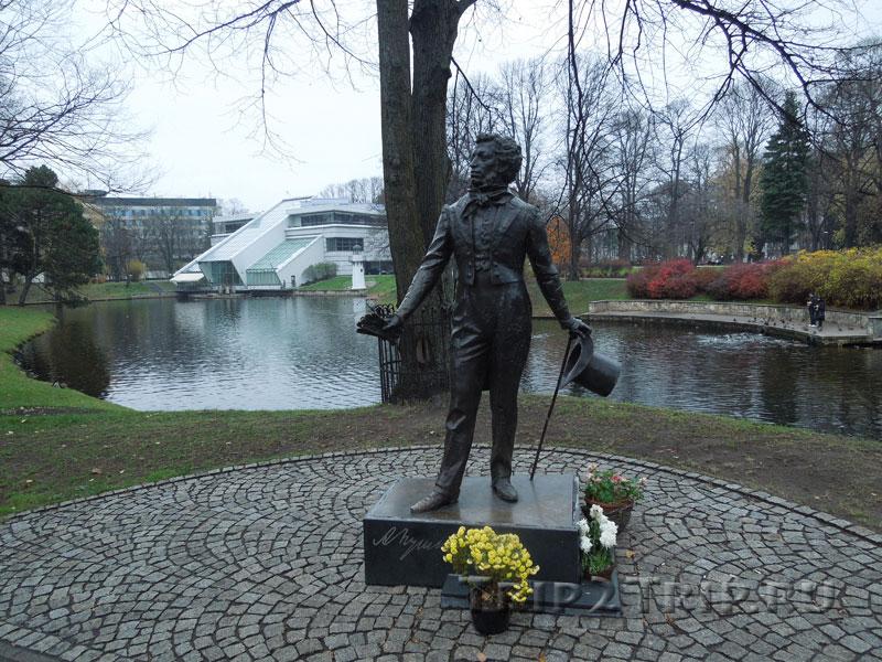 Памятник Пушкину, парк Кронвальда, Рига