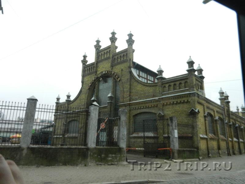 Мясной павильон Видземского рынка, улица Бривибас, Рига