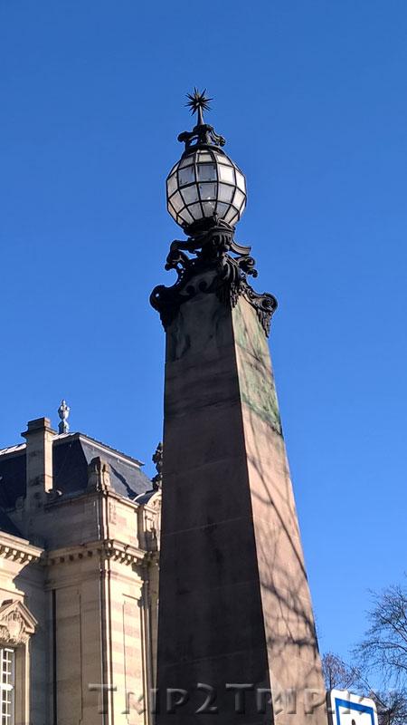 Фонарь при здании Апелляционного суда, парк Водонапорной башни, Кольмар