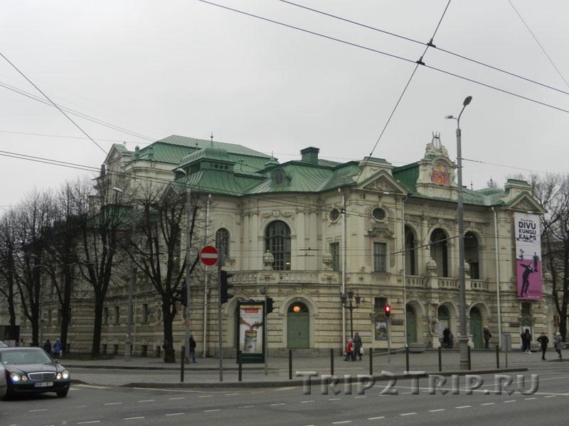 Латвийский национальный театр, бульвар Кронвалда, Рига