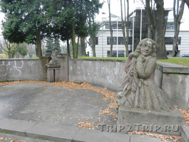 Правая часть фонтана Рихарда Маурса, парк Кронвальда, Рига