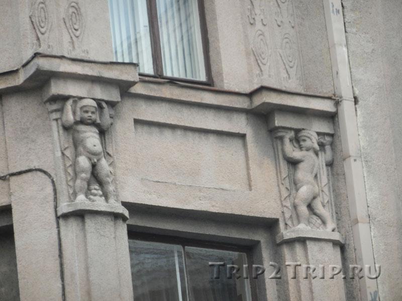 Декор Министерства Образования и науки, улица Валью, Рига