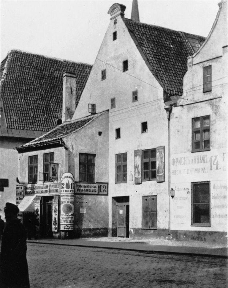 Три дома, снесённые для постройки дома Смилшу, 8, Рига. 1900-е