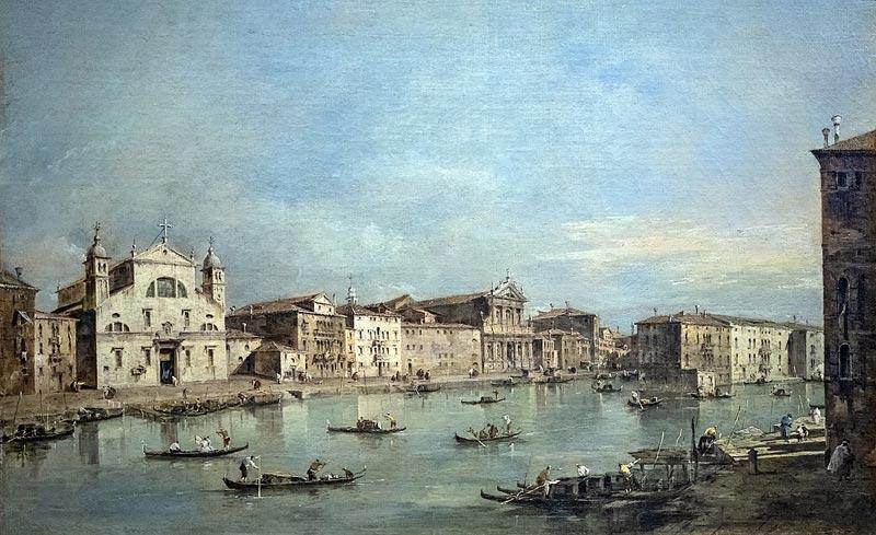 Большой Канал с церковью Санта-Лючии (1775-1780), картина Франческо Гварди