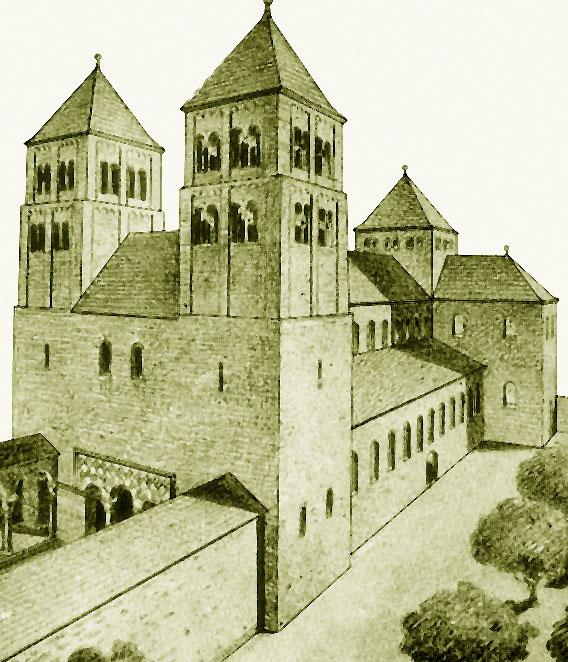 Страсбургский собор в XI веке