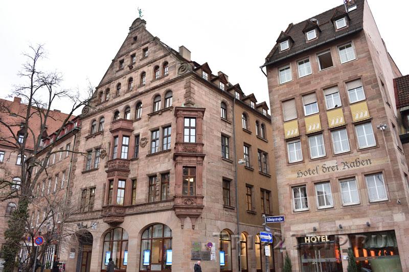 """Пойнтгассе и отель """"Drei Raben"""", Кёнигштрассе, Нюрнберг"""