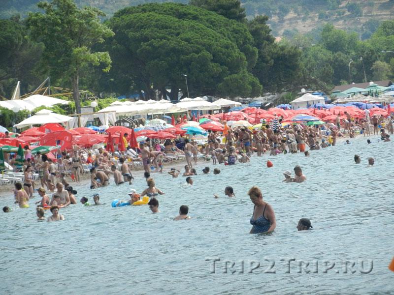 Греческий пляж, Будва