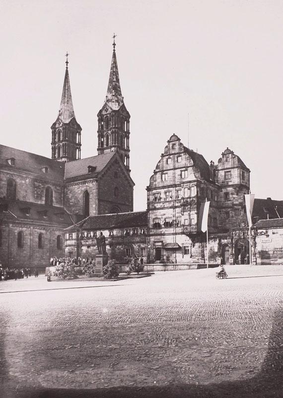 Исторический музей (вид из Старой Епископской Резиденции на башни собора), Бамберг