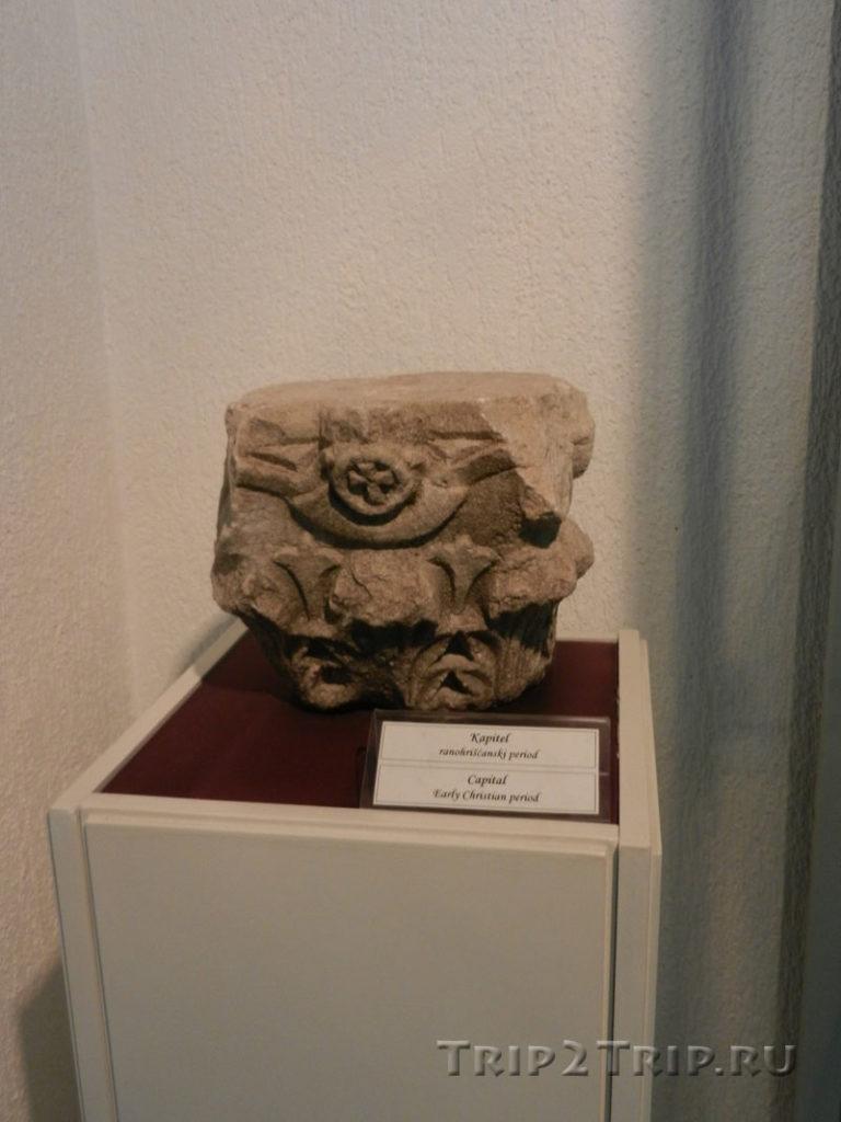 Капитель раннехристинских времен, Археологический музей Будвы