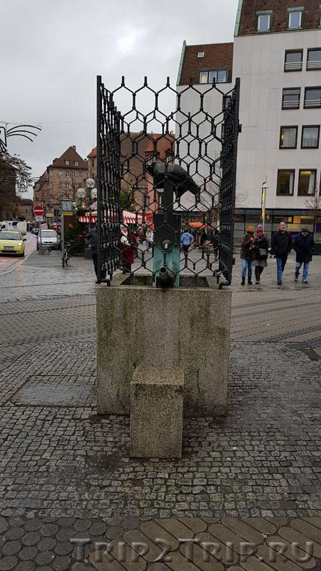 Фонтан перед Маутхалле, Кёнигштрассе, Нюрнберг