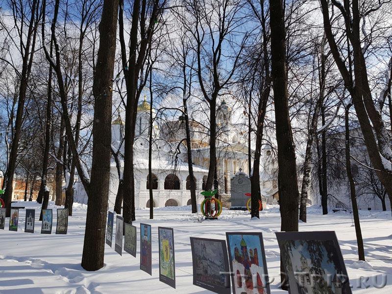 Рисунки школьников Звонницы в монастыре