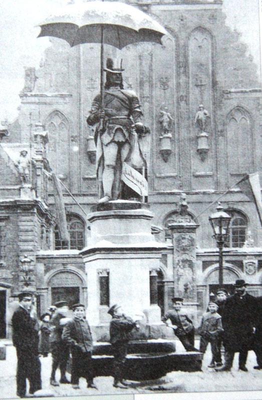Реклама с Роландом с использованием фотомонтажа (начало XX века)