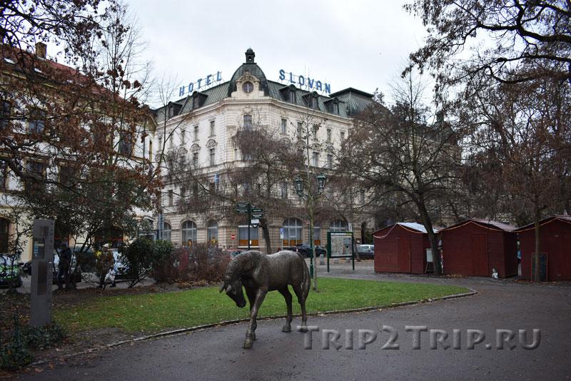 Скульптура коня, сады Копецкого