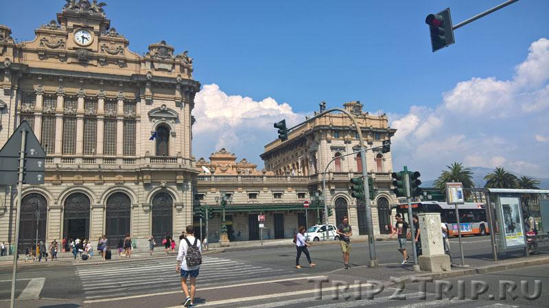 Восточный флигель вокзала Бриньоле, Генуя