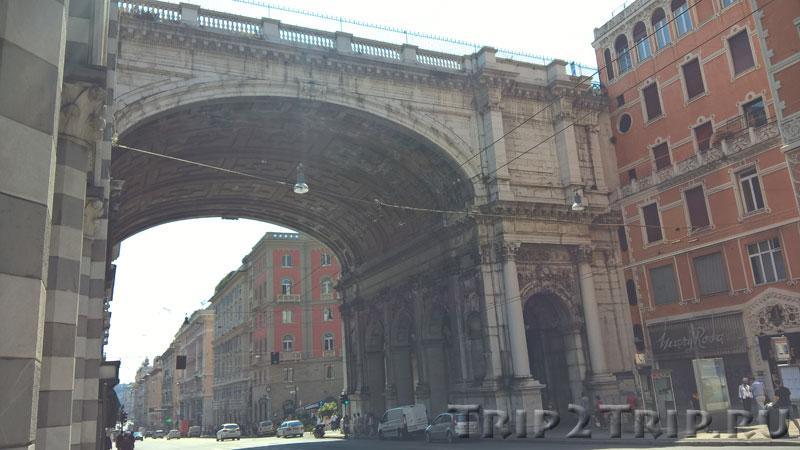 Монументальный мост, улица 20 сентября, Генуя